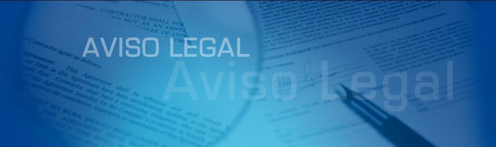 Resultado de imagen de aviso legal